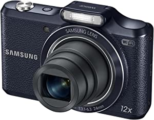 "Samsung WB50F 16.2MP Smart WiFi & NFC Digital Camera with 12x Optical Zoom and 3.0"" LCD (Black)"