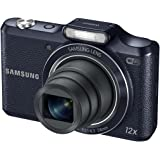 """Samsung WB50F 16.2MP Smart WiFi & NFC Digital Camera with 12x Optical Zoom and 3.0"""" LCD (Black)"""
