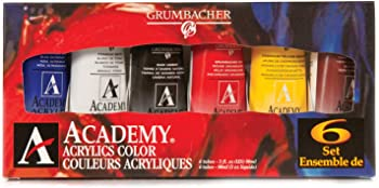 GRUMBACHER Academy Acrylic Paint Set