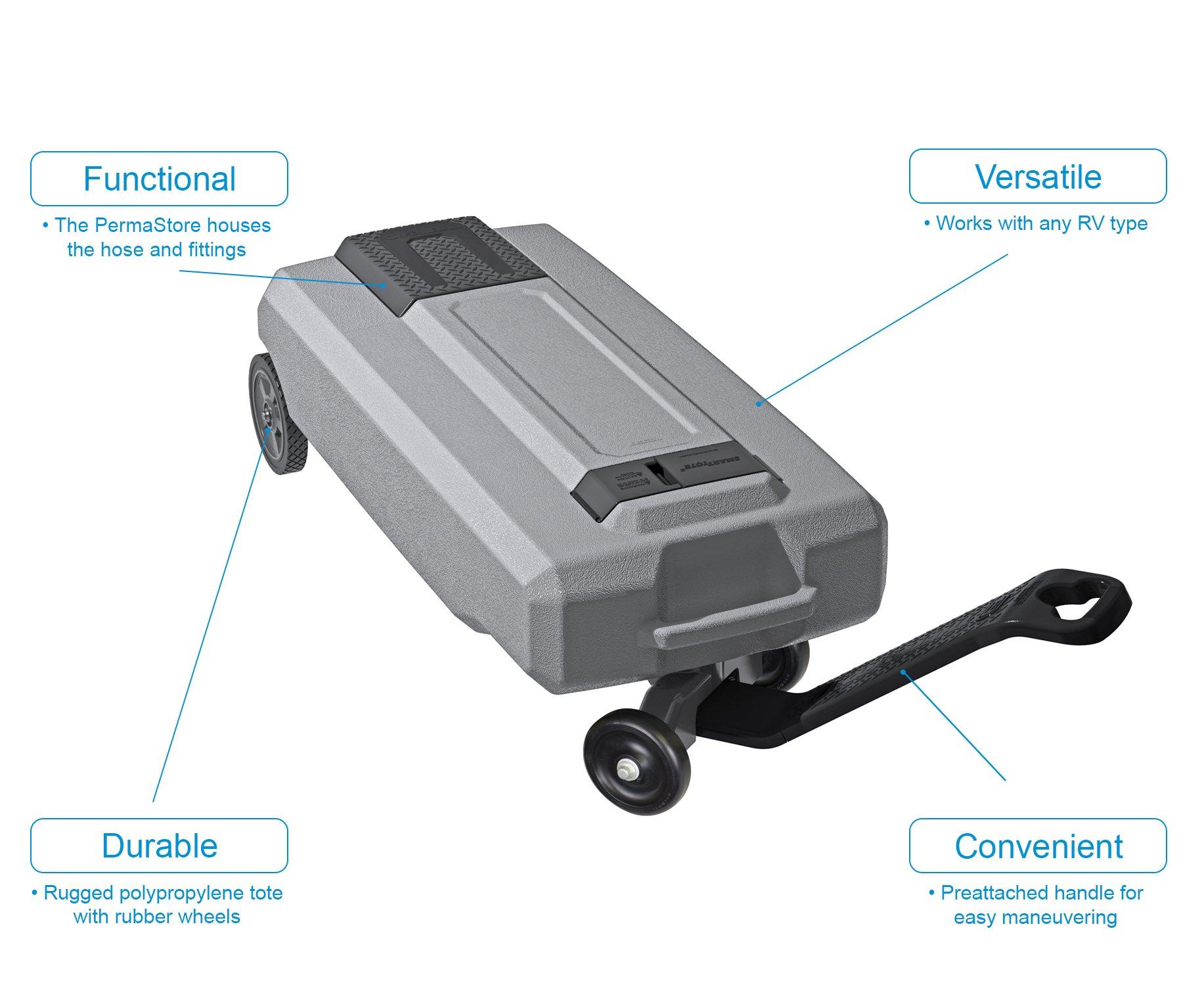 SmartTote2 RV Portable Waste Tote Tank - 4 Wheels - 35 Gallon - Thetford 40519 by SmartTote2 (Image #7)