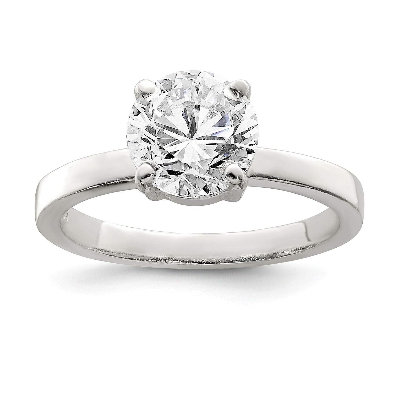 Bonyak Jewelry Sterling Silver Polished CZ Ring Size 6