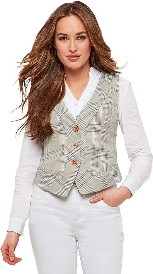 Joe Browns Womens Corsetting Check Waistcoat