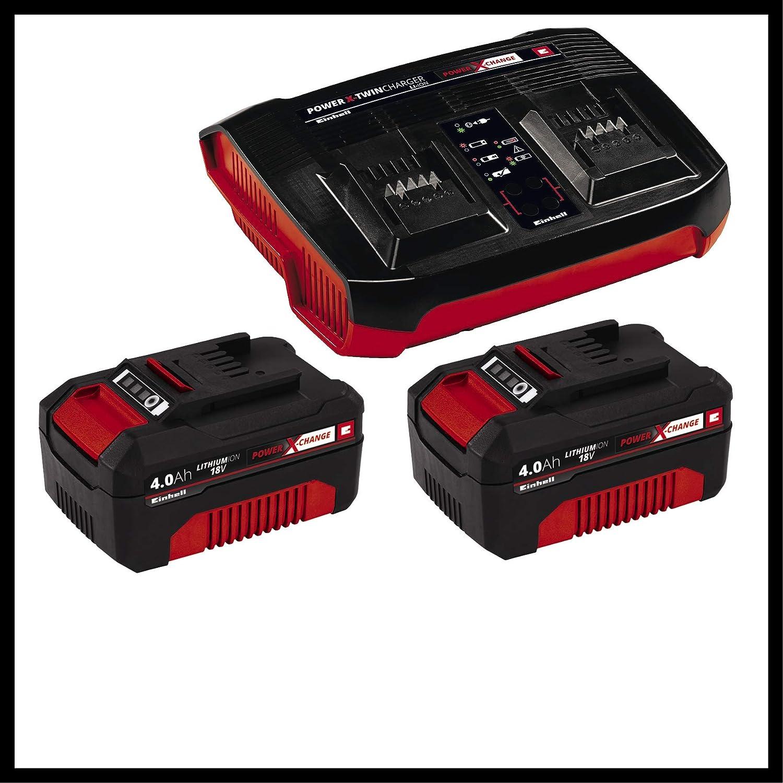 Einhell Cortacésped inalámbrico RASARRO Power X-Change (2x18V, altura de corte 6 niveles | 25-75 mm , ancho de corte 38 cm, 45L de capacidad de bolsa, ...