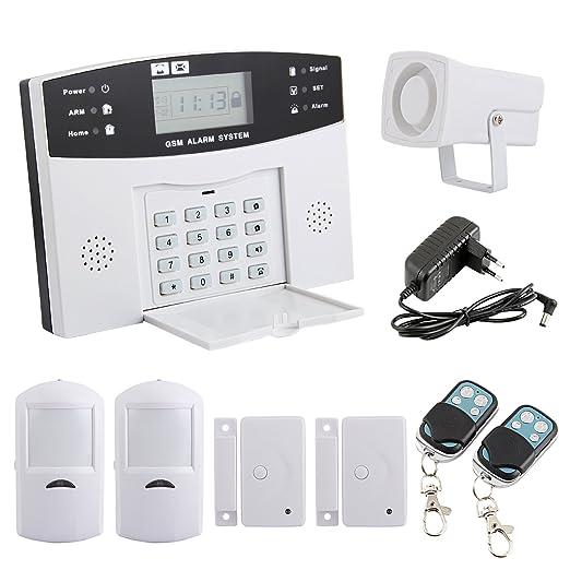 Yorbay, kit de alarma inalámbrica telefónica GSM con sensor de ...