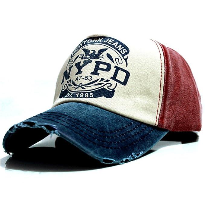 New York Jeans - Gorra de béisbol - para Hombre Azul Talla única: Amazon.es: Ropa y accesorios