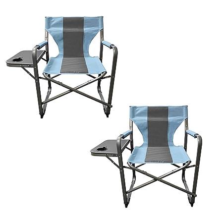 Caravan Sports DFC01022 Teal Gray 2PK Elite Director s Folding Chair