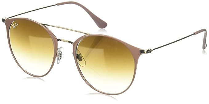 Ray-Ban Junior 0Rb3546 Gafas de Sol, Copper Top on Beige, 52 ...