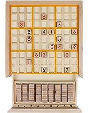 Andux Zone Madera Sudoku Juegos de Mesa con cajón SD-02 (Amarillo)