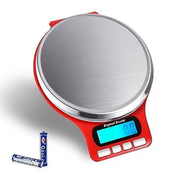 Báscula de cocina con Display Lcd Acero Inoxidable Plataforma Báscula Digital para Cocina Alta Precisión Max