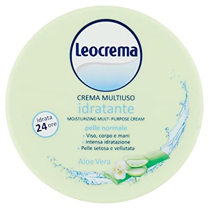 cheap for sale preview of huge inventory Leocrema - Multiuso Idratante Aloe Vera, Crema Corpo, Viso e Mani, Idrata e  Rinfresca , 150 ml