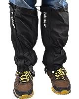 登山 ゲイター・スパッツ 防寒具 Backtour アウトドア スパッツ ロングスパッツ トレッキング 雨対策 撥水加工 防水 泥除け 雨よけ 雪対策 泥はね防止 メンズ レディース 左右セット ブラック