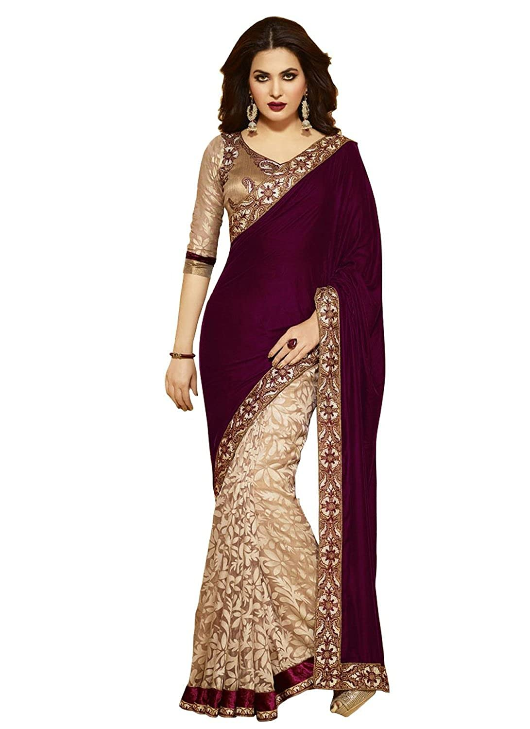 Woman Designer Ethnic Party Wear Bollywood Replica Georgette Saree Indian Sari