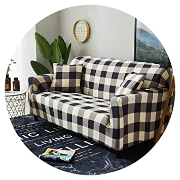 Stupendous Elastic Slipcovers Sofa Universal Sofa Cover Cotton Stretch Sectional Couch Corner Cover Sofa Cover For Living Room Pets 1Pc Color 7 3 Seater Ocoug Best Dining Table And Chair Ideas Images Ocougorg