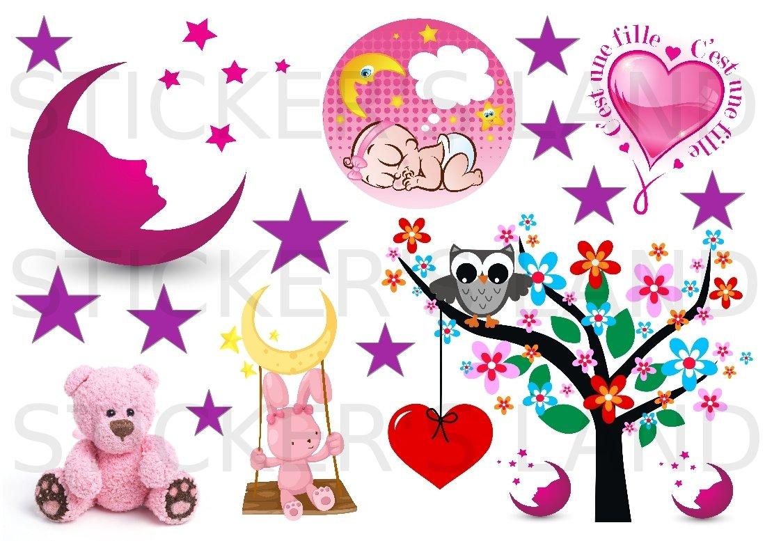 Stickers Decoratifs Lune Etoile Enfant A Decouper Planche A