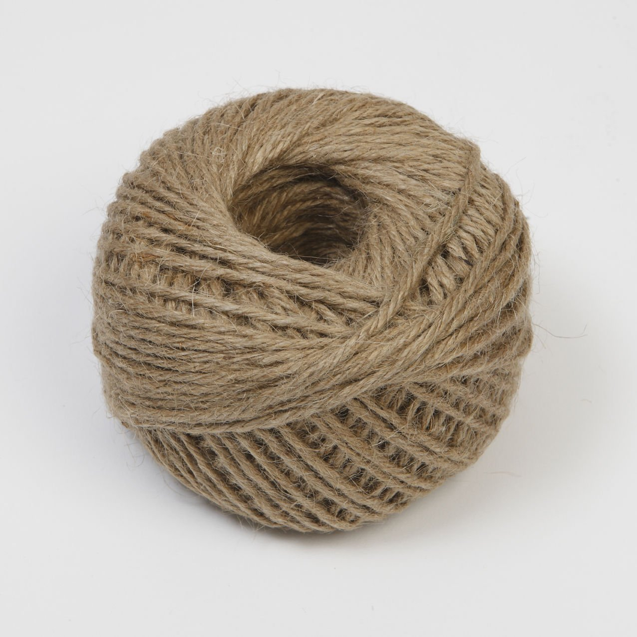 60m of Jute Twine, Natural Hessian Burlap String 3 PLY Macallen