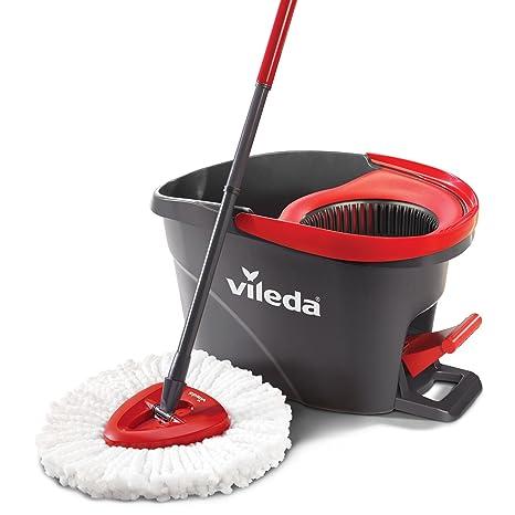 Vileda EasyWring Microfibre Spin Mop Bucket Floor Cleaning System