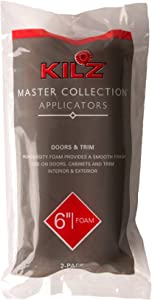 KILZ MASTER COLLECTION Professional 6-Inch High-Density Foam Mini Paint Roller Cover, 2-Pack