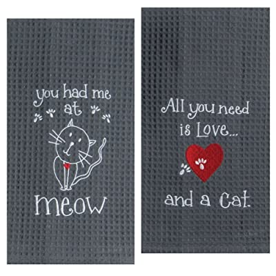 Kay Dee Designs Cat Lover Embroidered Towel Set