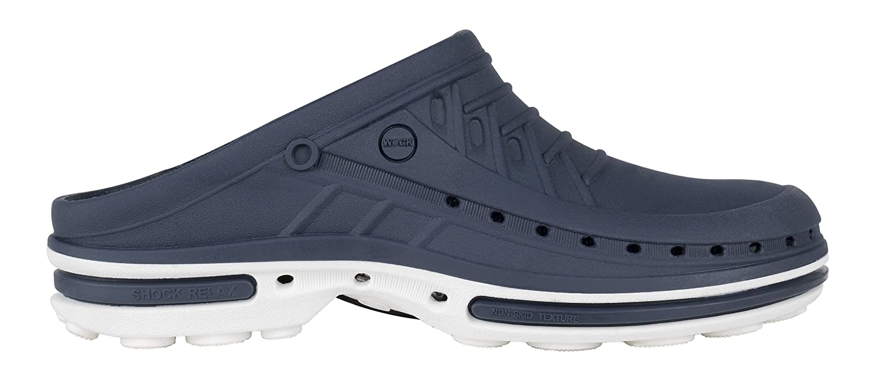 Clog ; - Chaussure professionnelle Antidérapante Marine WOCK - Stérilisable ; Antistatique ; Antidérapante ; Absorption des chocs Blanc/Bleu Marine 41413f9 - fast-weightloss-diet.space