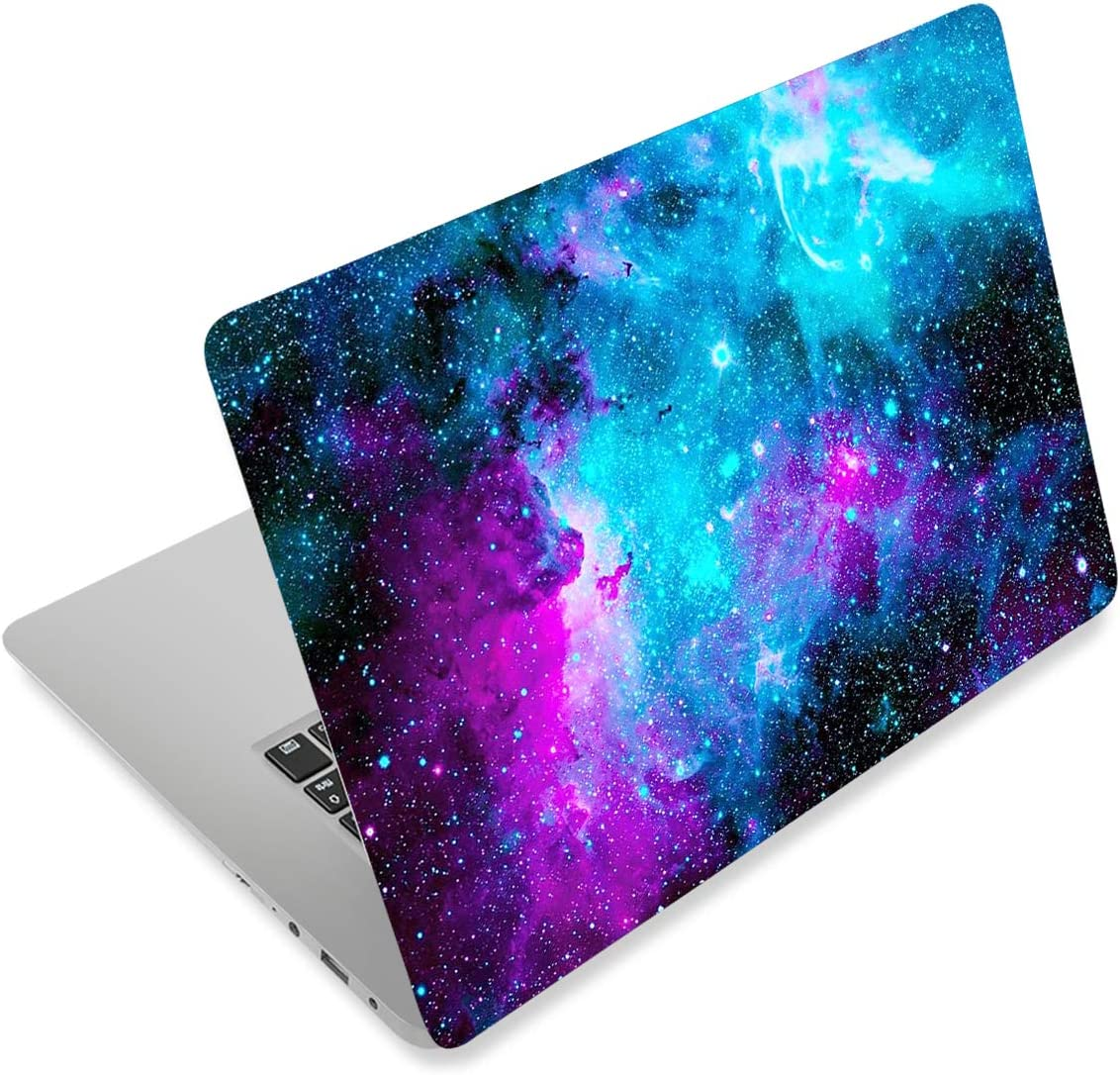 HYUTOTA Laptop Notebook Skin Sticker Cover Decal Fits 12 13 13.3 14 15 15.4 15.6 inch Laptop Protector Notebook PC | Easy to Apply, Remove and Change Styles (Galaxy)