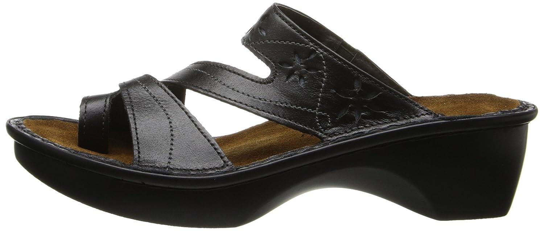 NAOT Women's Montreal Wedge Sandal B001BBJMQA 38 EU/6.5 - 7 M US|Midnight Black Leather