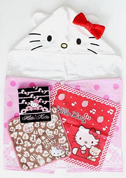 bba7d36e7 Image Unavailable. Image not available for. Color: SANRIO Hello Kitty Towel  Set ...