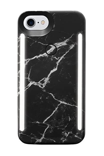 separation shoes 620f0 29bda LuMee Duo Phone Case, Black Marble | Front & Back LED Lighting, Variable  Dimmer | Shock Absorption, Bumper Case, Selfie Phone Case | iPhone 8 /  iPhone ...
