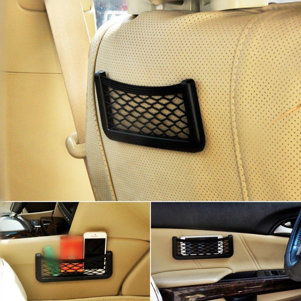 Demarkt Universal Schwarz Auto Seiten R/ückseiten Lagerung Net Taschen Beutel mit Klebe 15cm*8.5cm