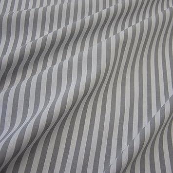Stoff Meterware Bauernstreifen grau weiß Streifen gestreift