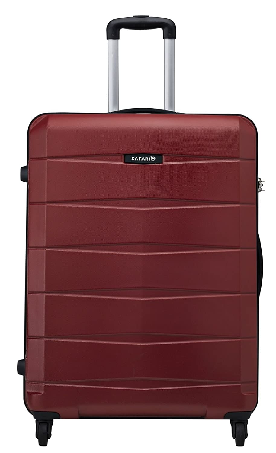 Safari Polycarbonate 77 cms Red Hard Sided Suitcase (REGLOSS ANTISCRATCH 4W 77 RED)