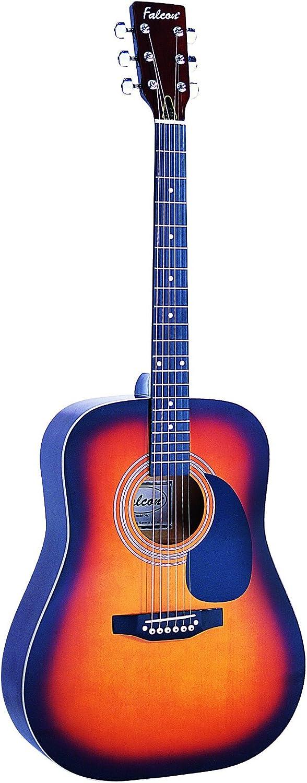 Falcon FG100BL - Guitarra acústica con cuerdas metálicas (tilo ...