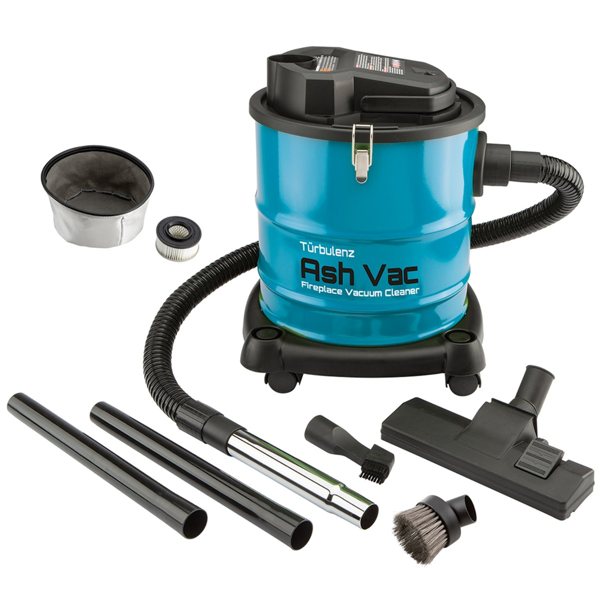 10-Amp Fireplace, Stove and Grill Ash Vacuum with HEPA Filter and Tools Turbulenz