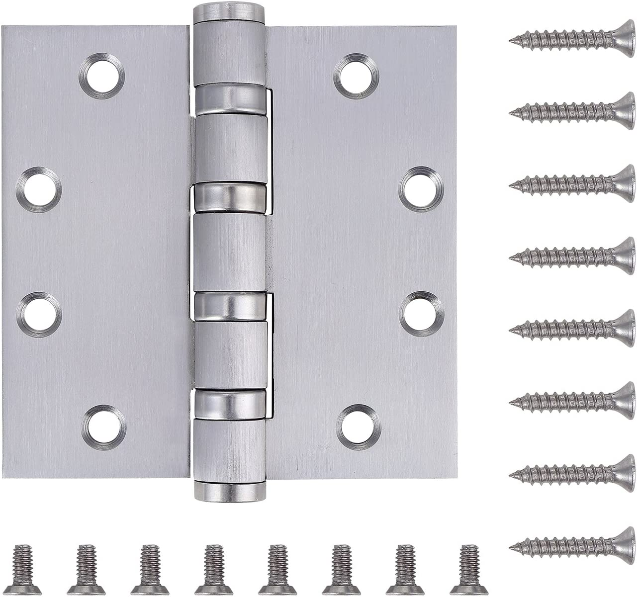 Pack of 3 - Commercial Door Hinge (Reversible) - 4.5 Inch - Heavy Duty Stainless Steel - 4 Bearing Heavy Weight - by Dependable Direct