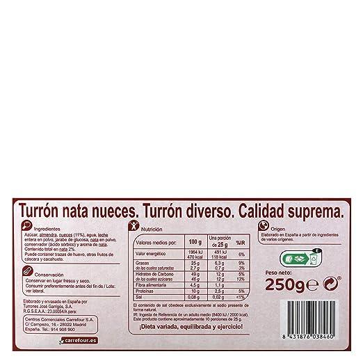Amazon.com : Carrefour Nuts & Cream Spanish Nougat - 3 Pack ...