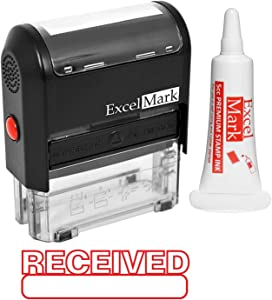 ExcelMark Received Self Inking Rubber Stamp (Stamp Plus 5cc Refill Ink)