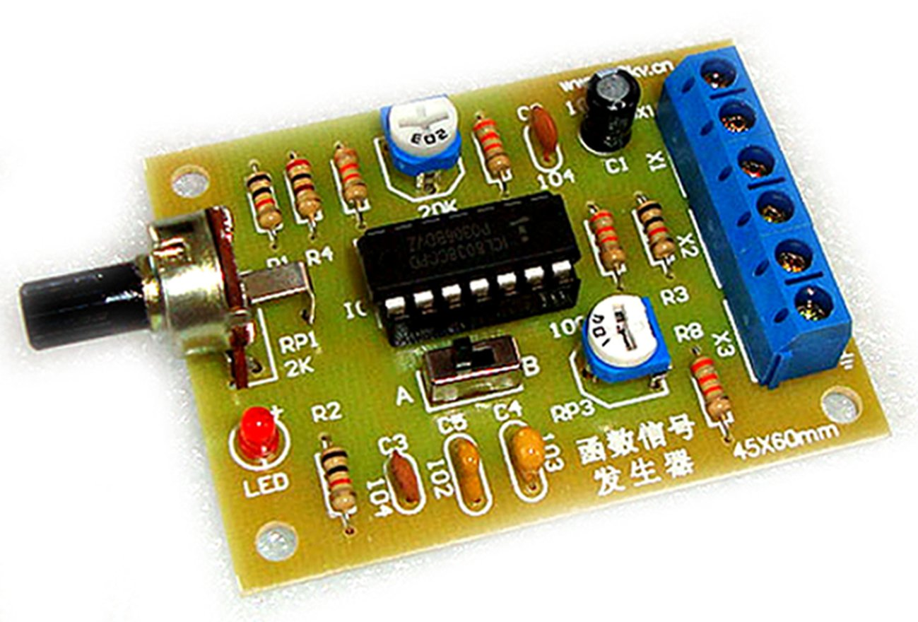 Icl8038 Function Signal Generator Module Sine Square Triangle Wave Audio Circuit Output Kit Industrial Scientific
