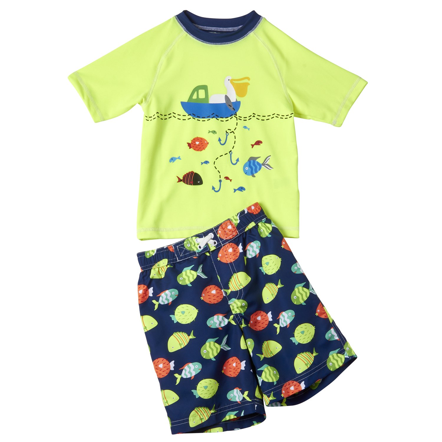 Wippette Boys/' 2-Piece Swim Set with Hat