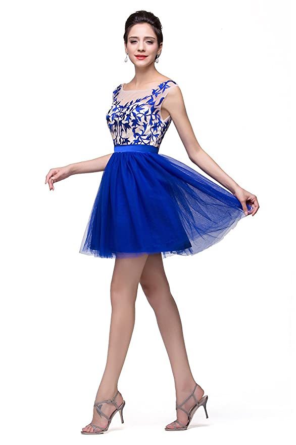 Amazon.com: Babyonlinedress Babyonline A-Line Prom Dresses for Juniors 2015 Short Lace Tulle Homecoming Gown: Clothing