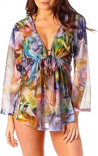 Kiniki Tahiti Tan Through Beach Dress Cover Up Accessory