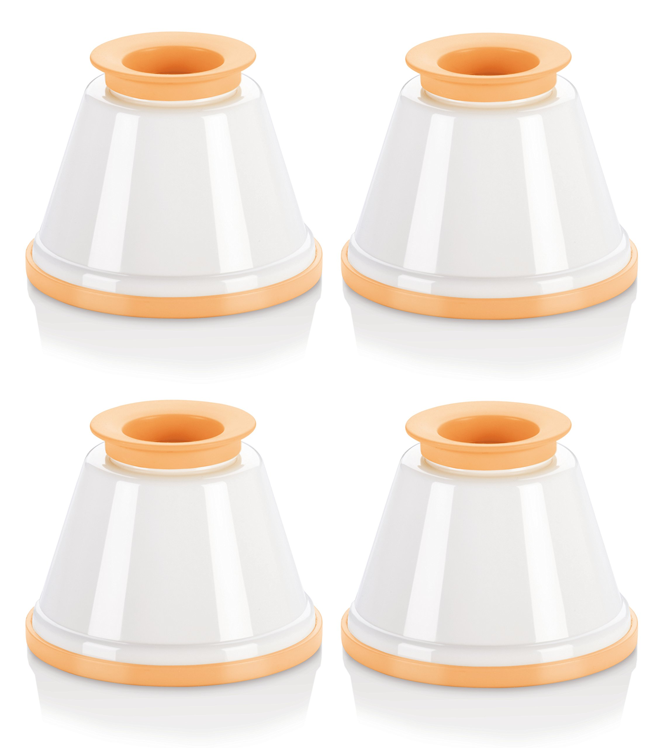 Tescoma 630591.00 Panna Cotta Mould Set | Set of 4 Cups with Lid