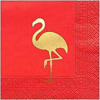 Story 25x25 cm Altın Varak Flamingo 50'li Nar Peçete