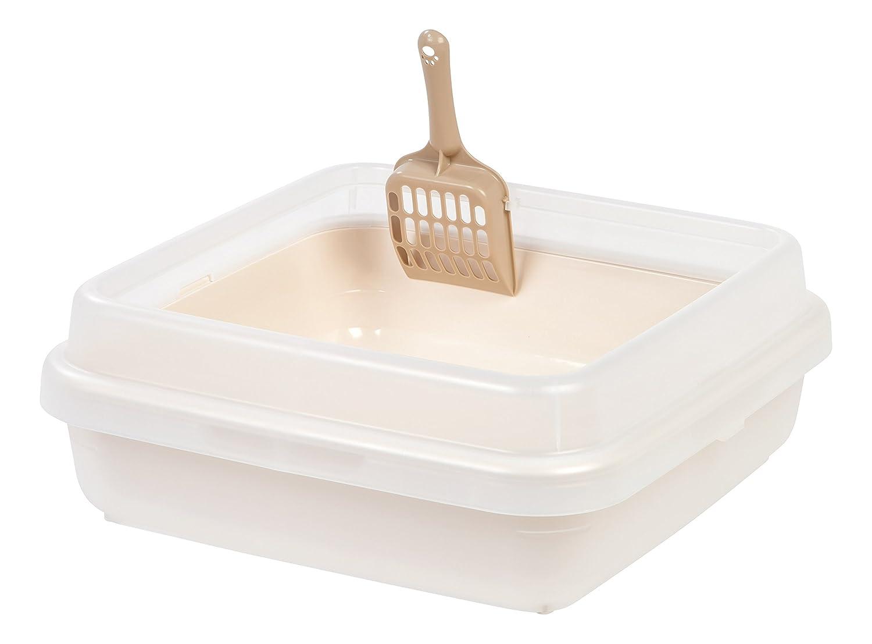 IRIS Square Rimmed Cat Litter Pan Set