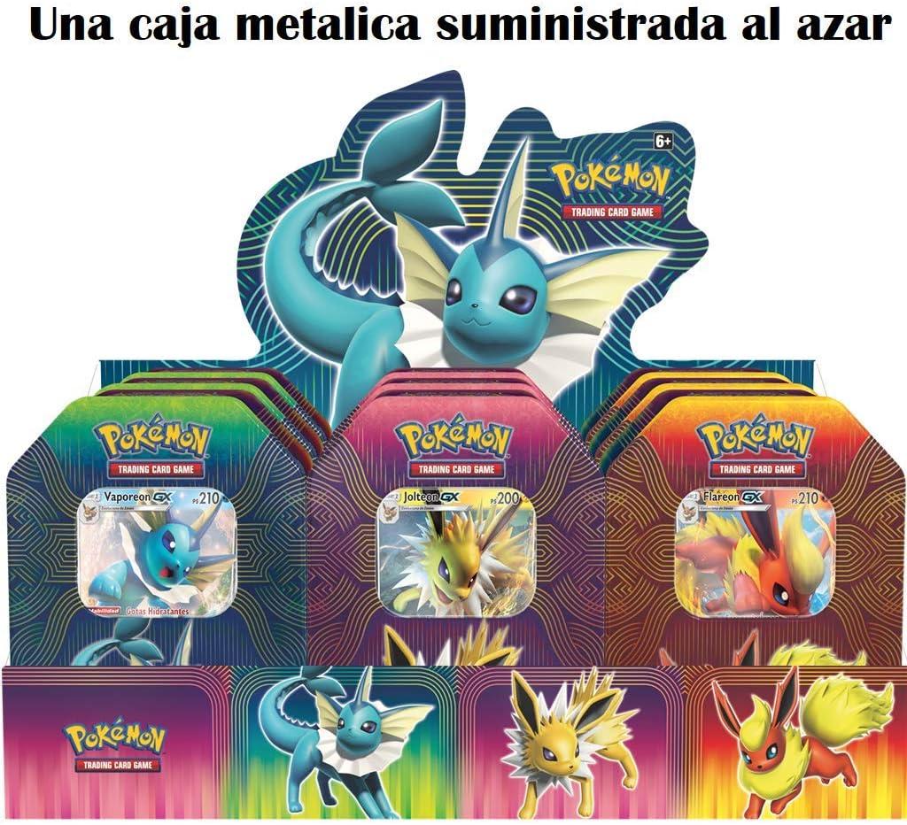 The Pokémon Company - Caja metálica Poder Elemental - Español (POTB1901): Amazon.es: Juguetes y juegos