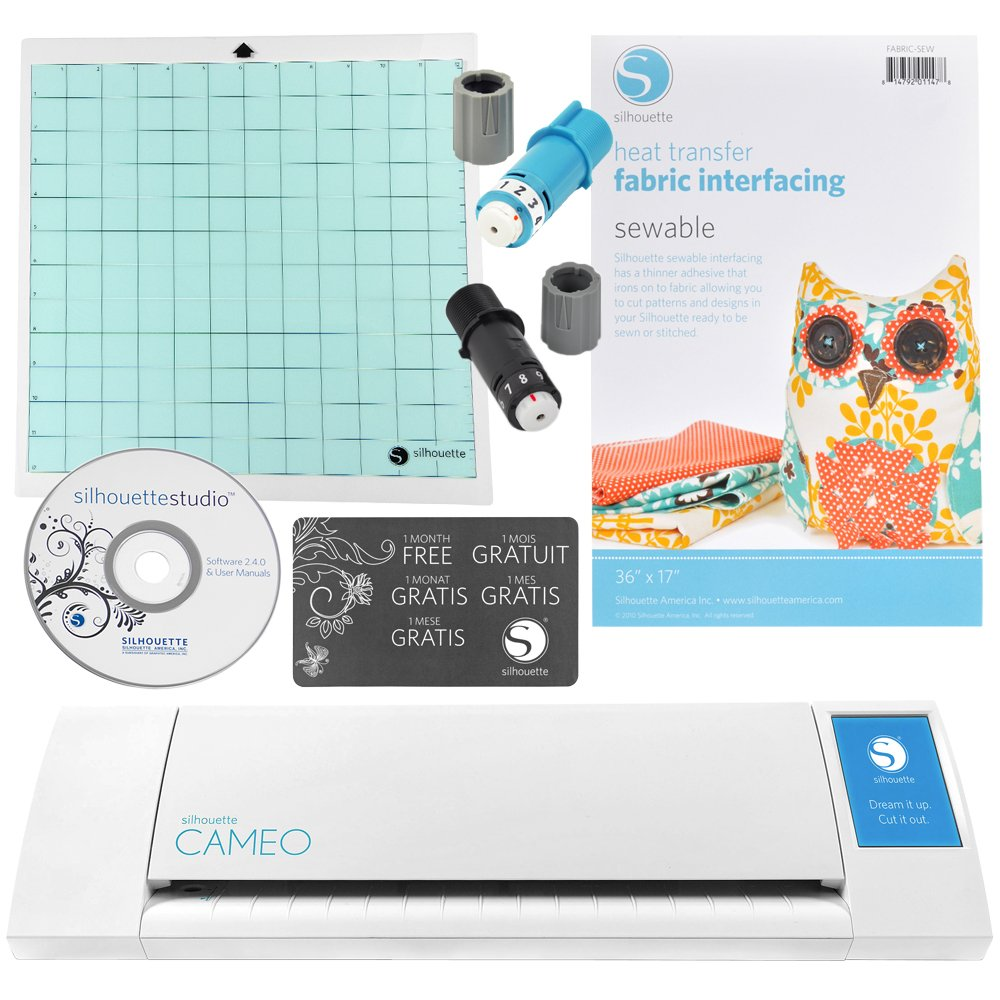 Silhouette Cameo Digital Craft Cutter with Fabric Interfacing Starter Kit by Silhouette