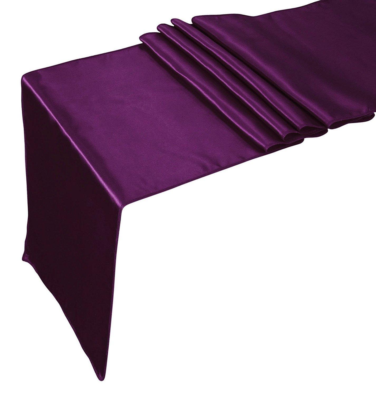 Elina Home Lavender Satin 2 Table Runner /& 10 Combo of TableRunner /& Chair Bow Sash for Wedding Lavender Lavender COMBO-LAVENDER SATIN 2 TR /& 10 BOW