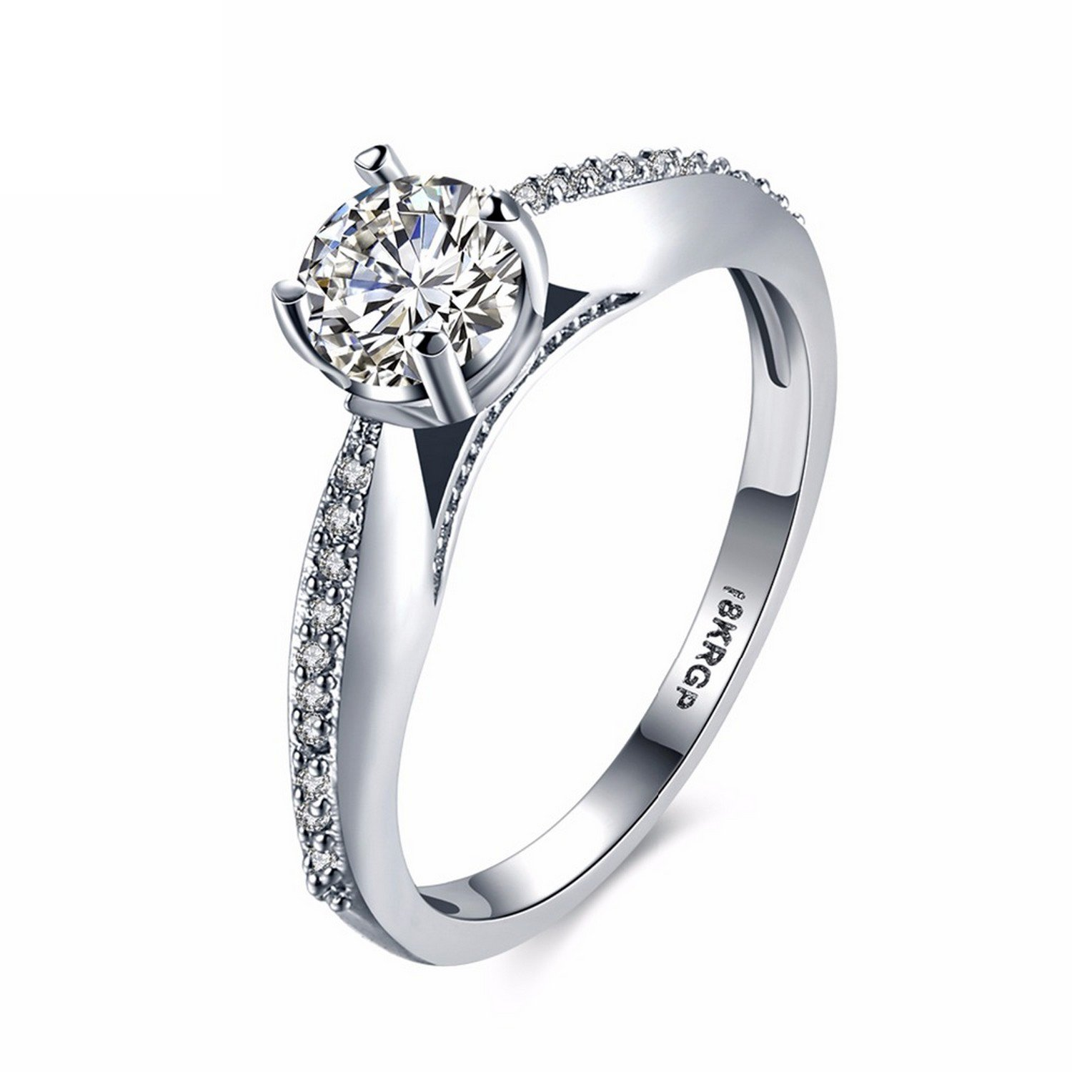 Cherryn Cubic Zirconia Ring Crystal Silver Color Women cubic zirconia engagement rings fashion rings set