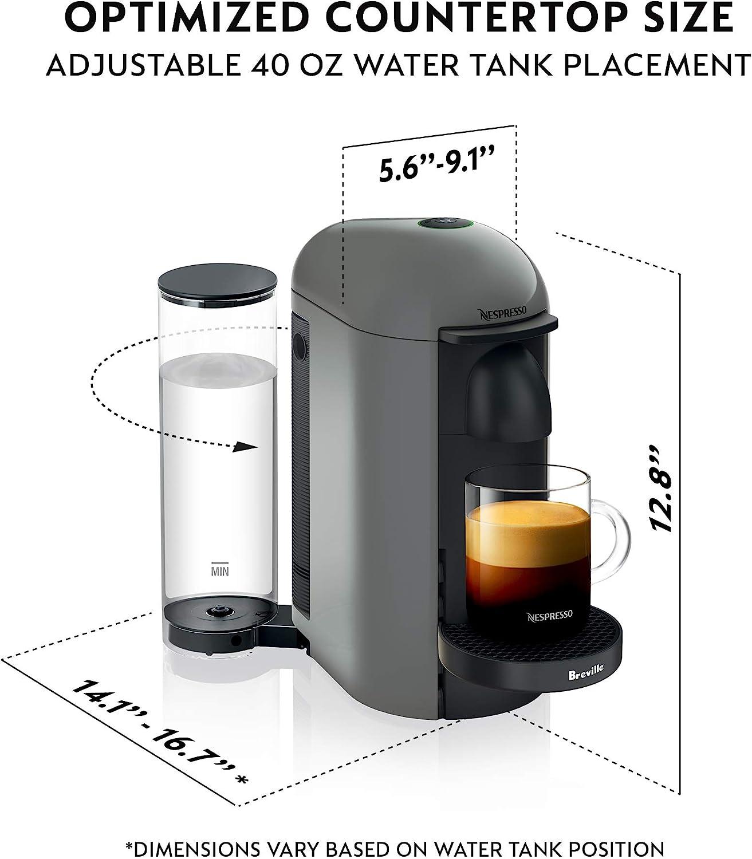 Nespresso VertuoPlus - Máquina de café y espresso por Breville, color gris: Amazon.es: Hogar