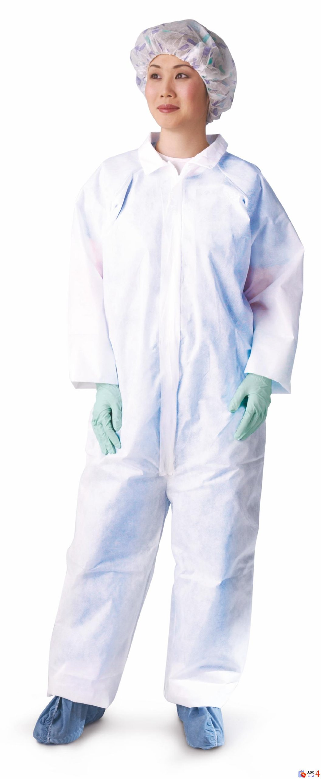 Medline NONCV300XL Microporous Breathable Coveralls, Straight Wrist/Ankle, X-Large, White (Pack of 25)