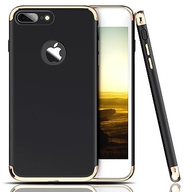 Teryei Funda iPhone 7 Plus / 8 Plus, 3 en 1 Hard PC Case 360 Degree protección Anti-Scratch Carcasa [Ultra Slim] enchapado Anti-Golpes Anti-Estático ...