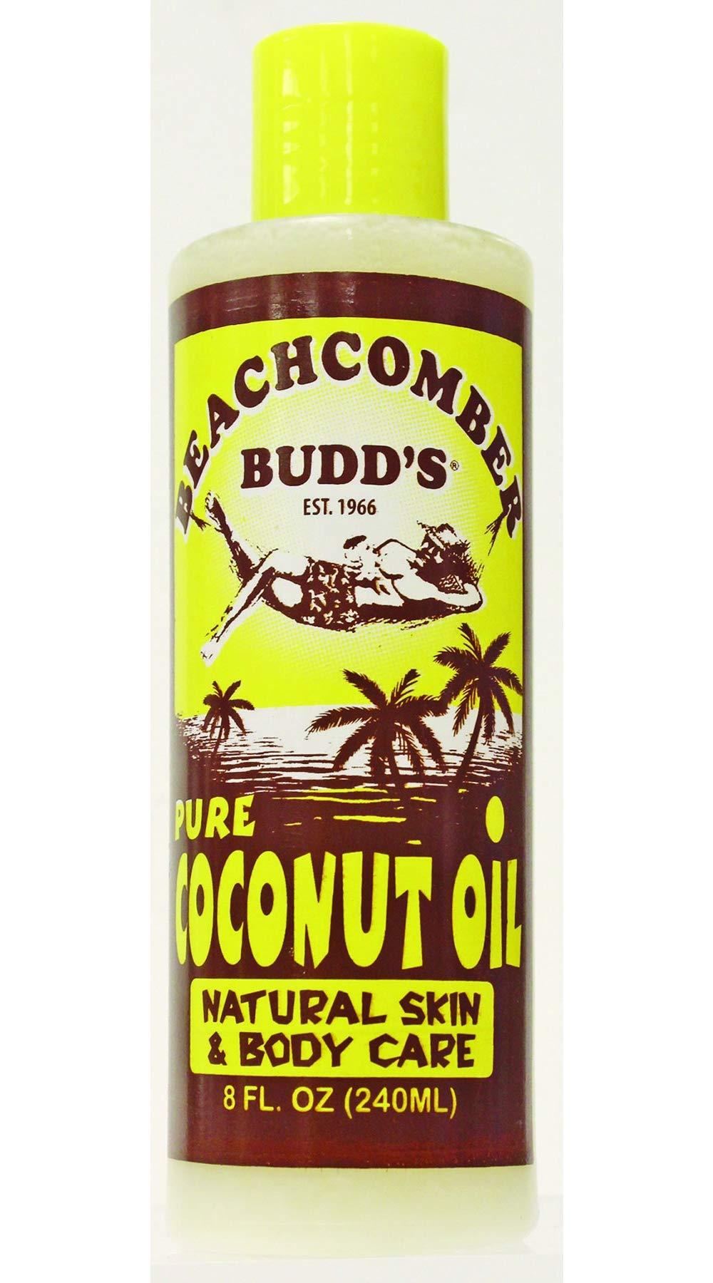 Value Pack Hawaiian Beachcomber Budd Pure Coconut Oil 8 oz. Scented 4 Bottles by Beachcomber Budd's